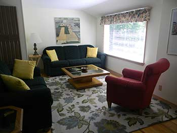 Carriage House Rental Cottage Living Room