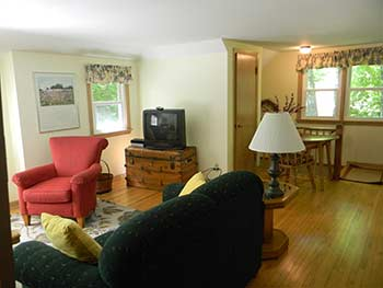 Carriage House Rental Cottage Living Room 2